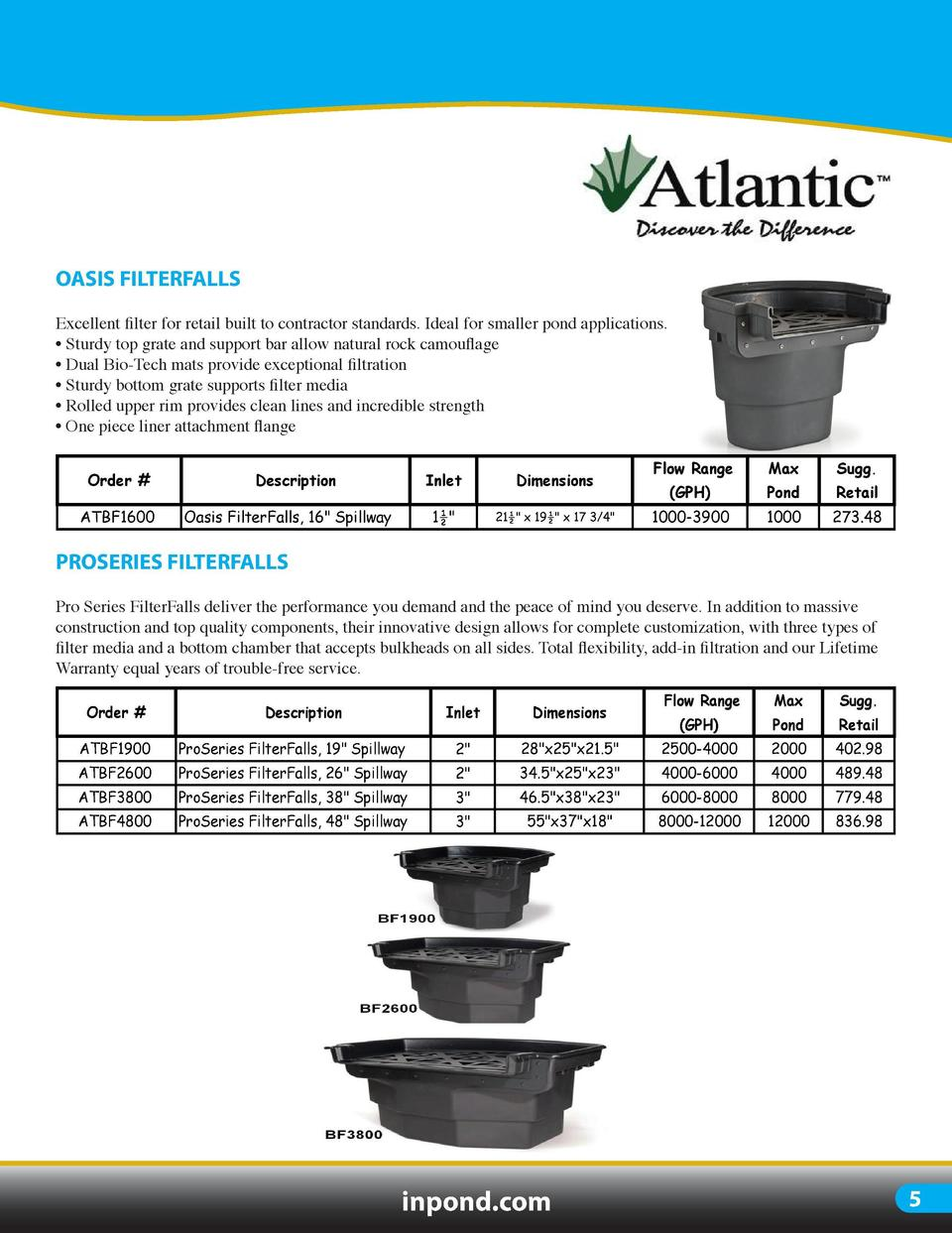 POND FILTRATION  ULTIMA II  OASIS FILTERFALLS  Ultima II pressurized filtration is considered one of the most advanced in ...