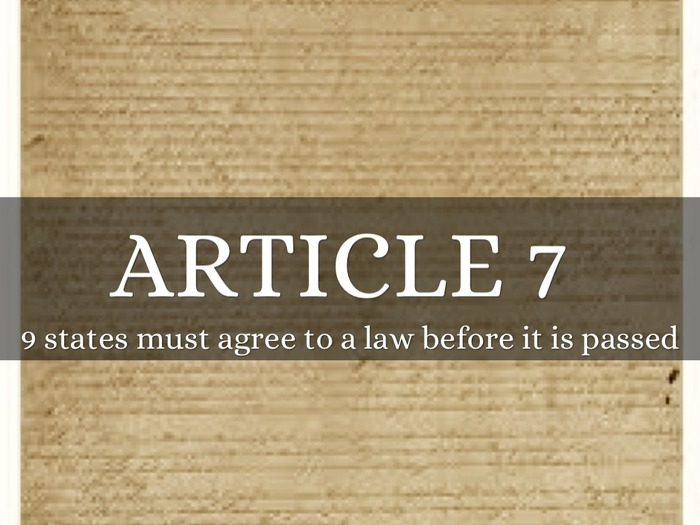 article vii of the constitution