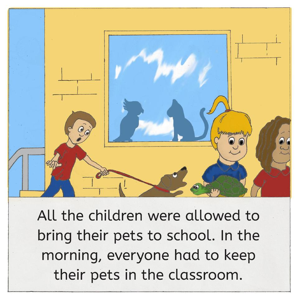 All the children were allowed to bring their pets to school. In the morning, everyone had to keep their pets in the classr...