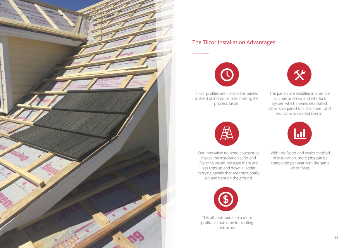 The Tilcor Installation Advantages   Tilcor profiles are installed as panels instead of individual tiles, making the proce...