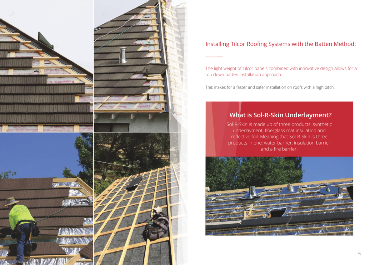 Installing Tilcor Roofing Systems with the Batten Method   The light weight of Tilcor panels combined with innovative desi...