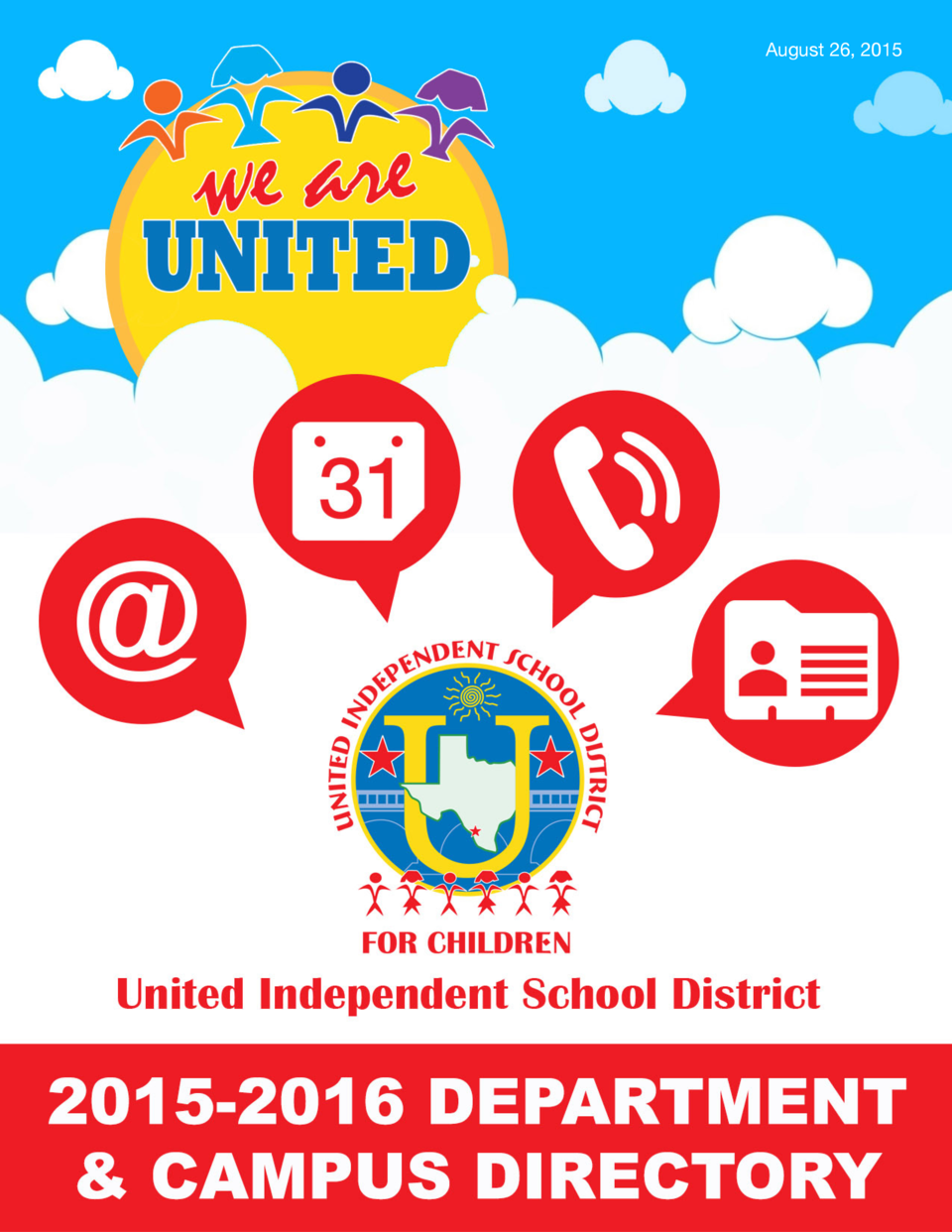 August 26, 2015  A Tradition of Excellence since 1961  we are UNITED  Page 1