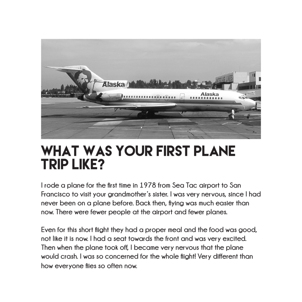 What was your first plane trip like  I rode a plane for the first time in 1978 from Sea Tac airport to San Francisco to vi...