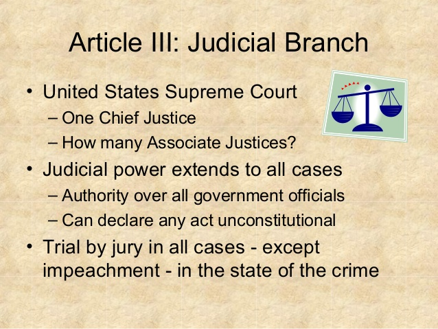 article 3 connected with the united areas constitution summary