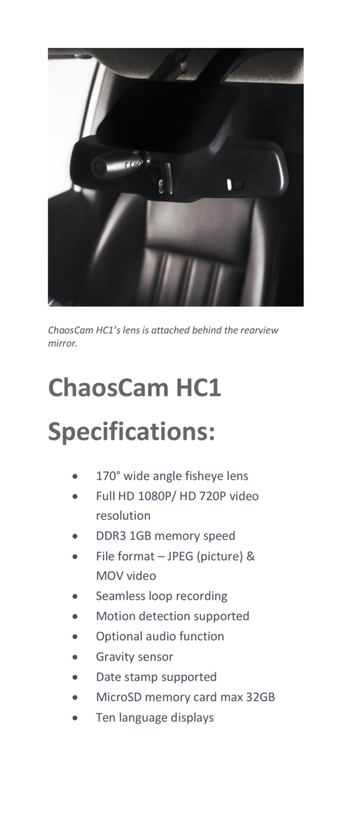 How does HC1 differ to other dash cams on the market  Our patented-design dash cam was contrived to suit the needs of driv...