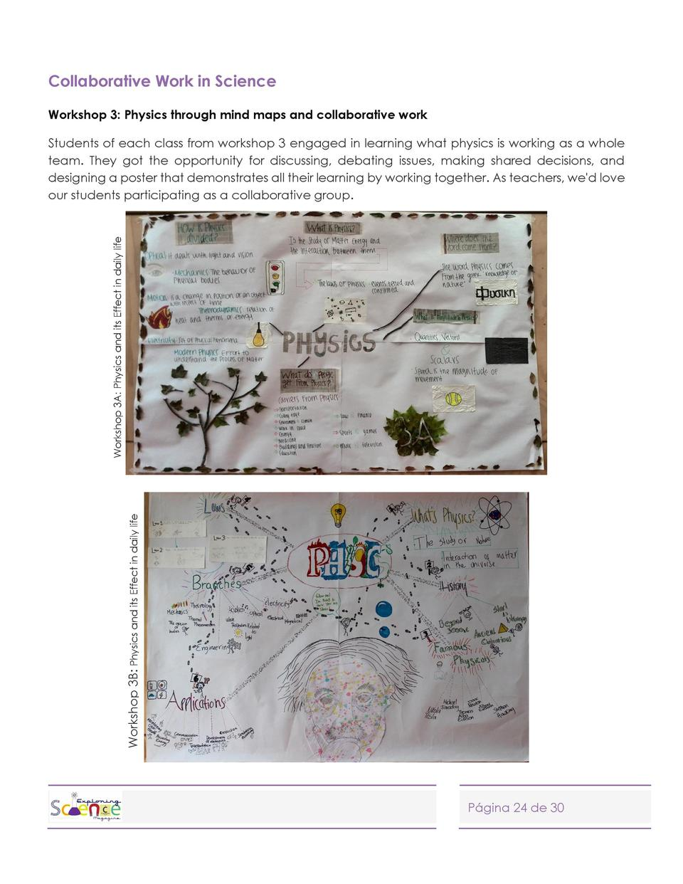 Collaborative Work in Science Workshop 3  Physics through mind maps and collaborative work  Workshop 3B  Physics and its E...