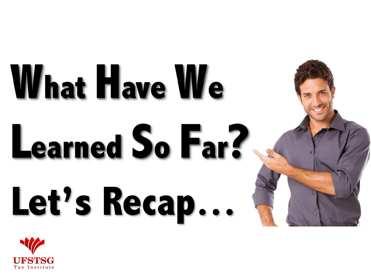 What Have We Learned So Far  Let   s Recap