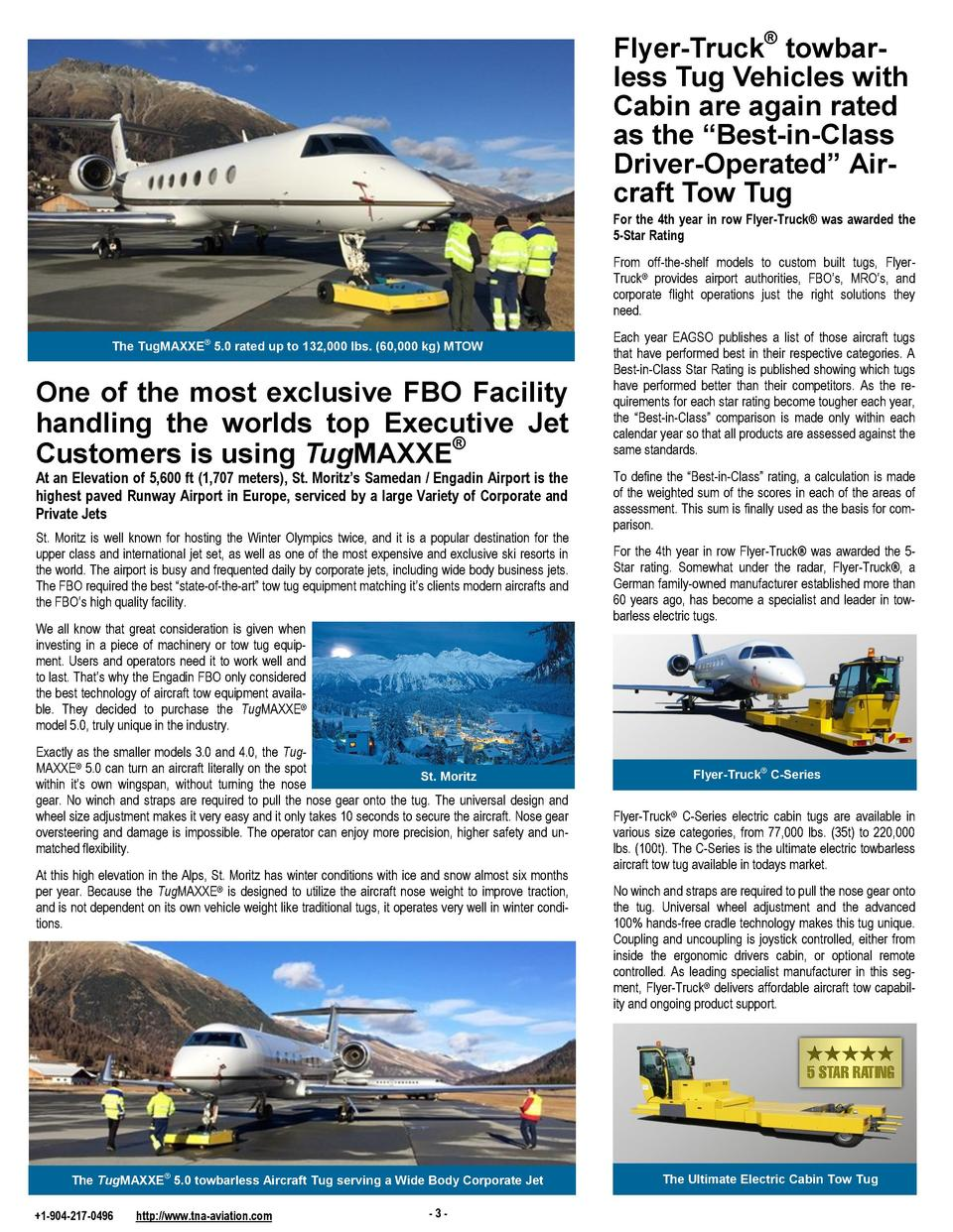 Flyer-Truck   towbarless Tug Vehicles with Cabin are again rated as the    Best-in-Class Driver-Operated    Aircraft Tow T...
