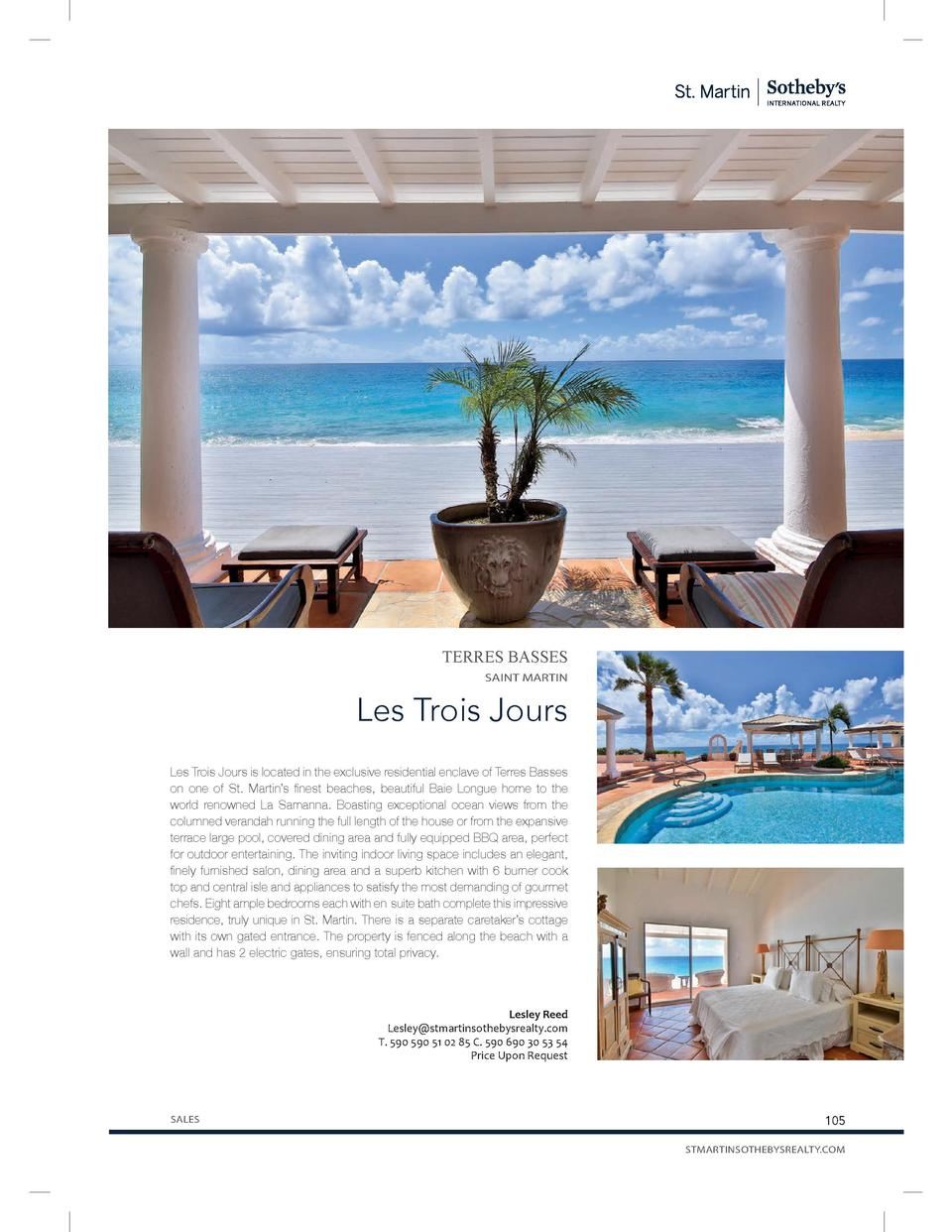 TERRES BASSES SAINT MARTIN  Les Trois Jours Les Trois Jours is located in the exclusive residential enclave of Terres Bass...