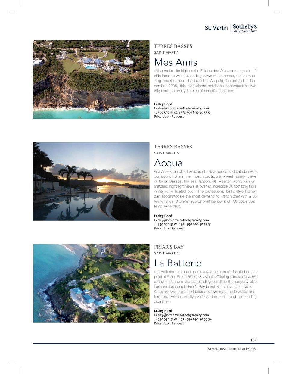 TERRES BASSES SAINT MARTIN  Mes Amis    Mes Amis   sits high on the Falaise des Oiseaux  a superb cliff side location with...