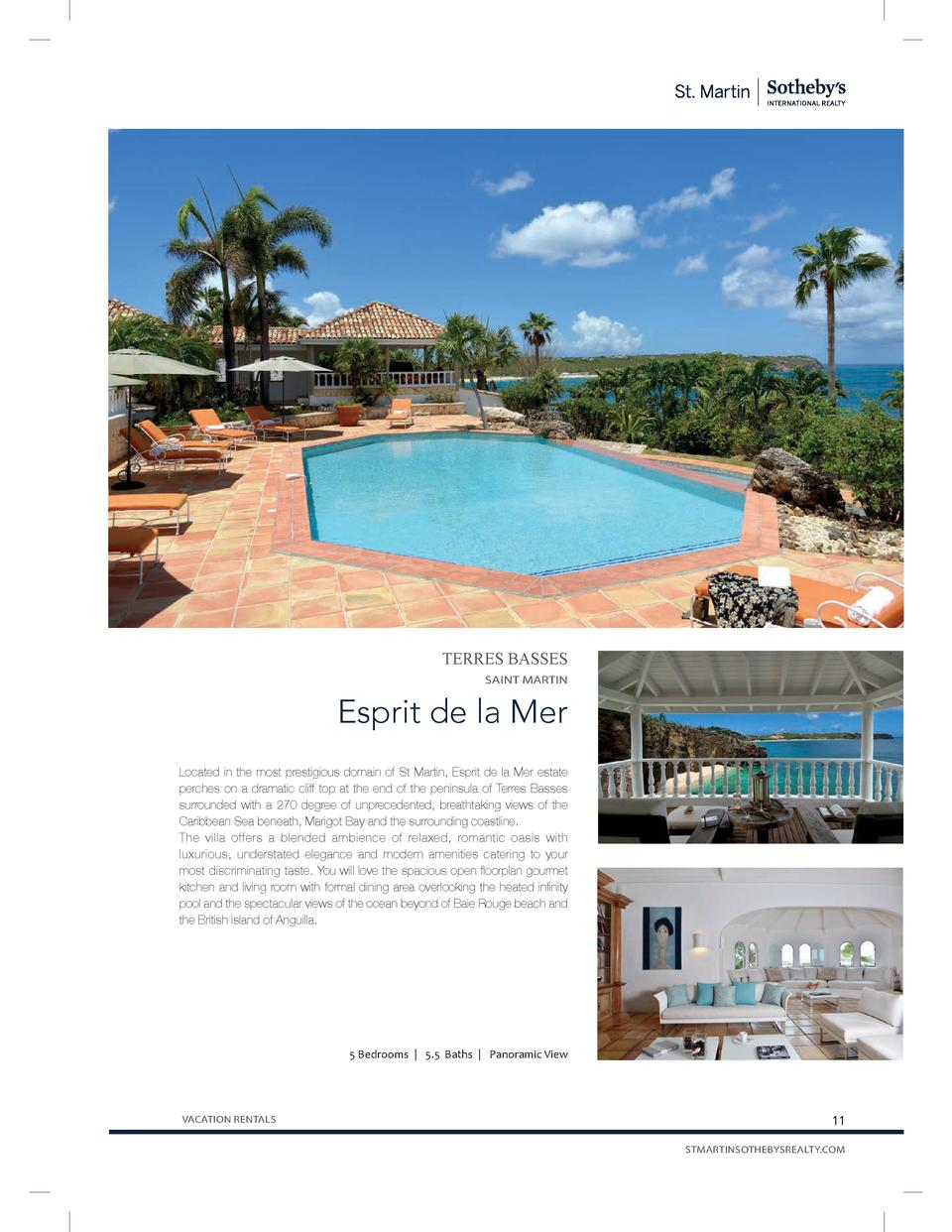 TERRES BASSES SAINT MARTIN  Esprit de la Mer Located in the most prestigious domain of St Martin, Esprit de la Mer estate ...