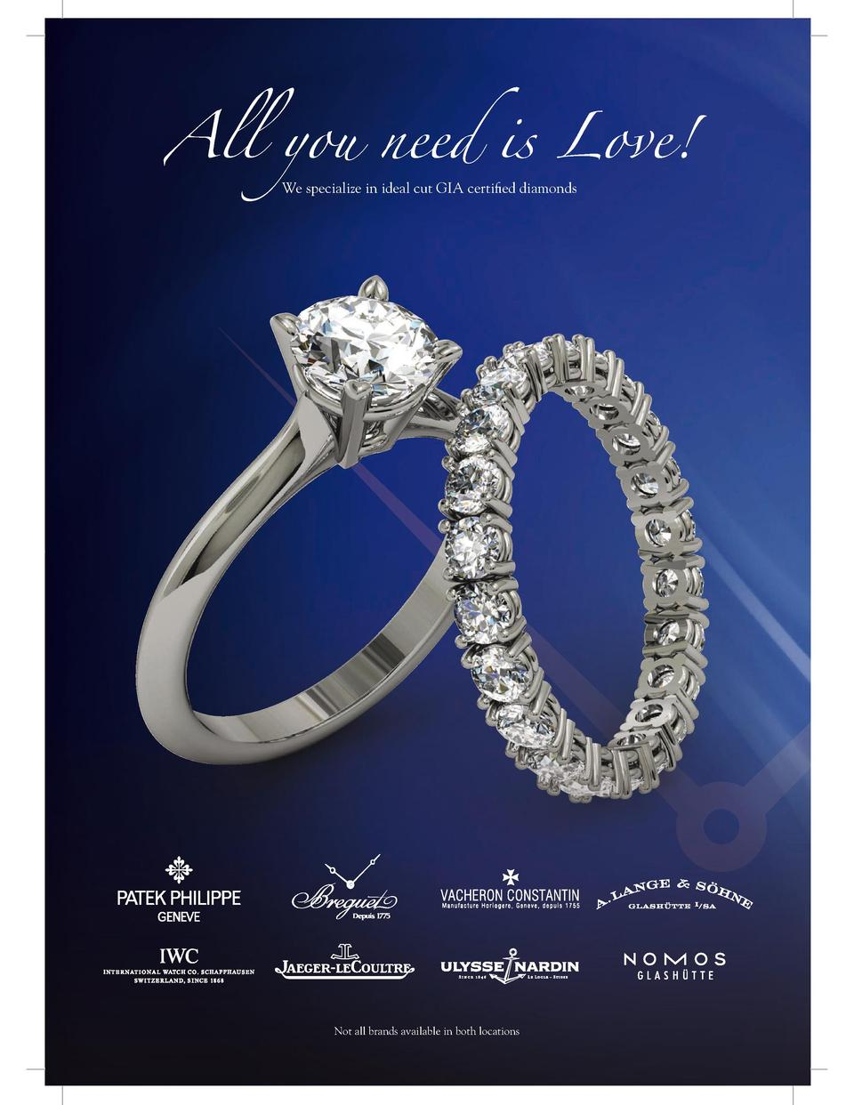 Jewels by Love 2016  All you need is Love  We specialize in ideal cut GIA certified diamonds  H  Patek onymo makin Amon ha...