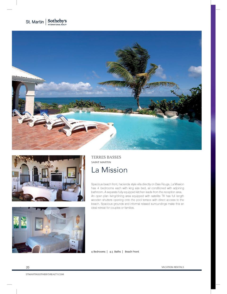 C  M  Y  CM  MY  CY  TERRES BASSES  CMY  SAINT MARTIN  K  La Mission Spacious beach front, hacienda-style villa directly o...