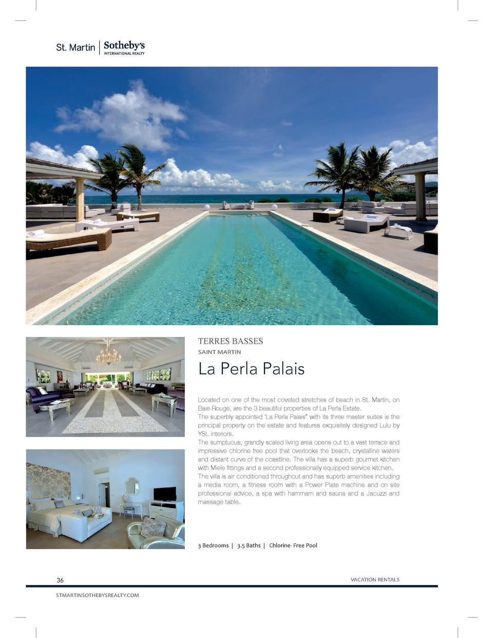 TERRES BASSES SAINT MARTIN  La Perla Palais Located on one of the most coveted stretches of beach in St. Martin, on Baie R...