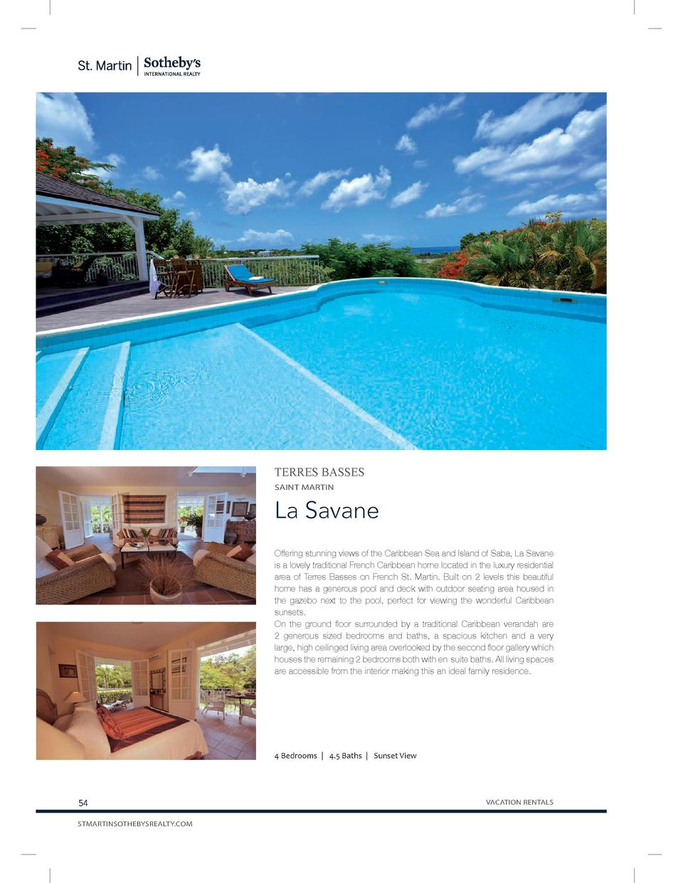 TERRES BASSES SAINT MARTIN  La Savane Offering stunning views of the Caribbean Sea and Island of Saba, La Savane is a love...