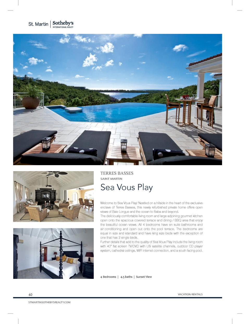 TERRES BASSES SAINT MARTIN  Sea Vous Play Welcome to Sea Vous Play  Nestled on a hillside in the heart of the exclusive en...