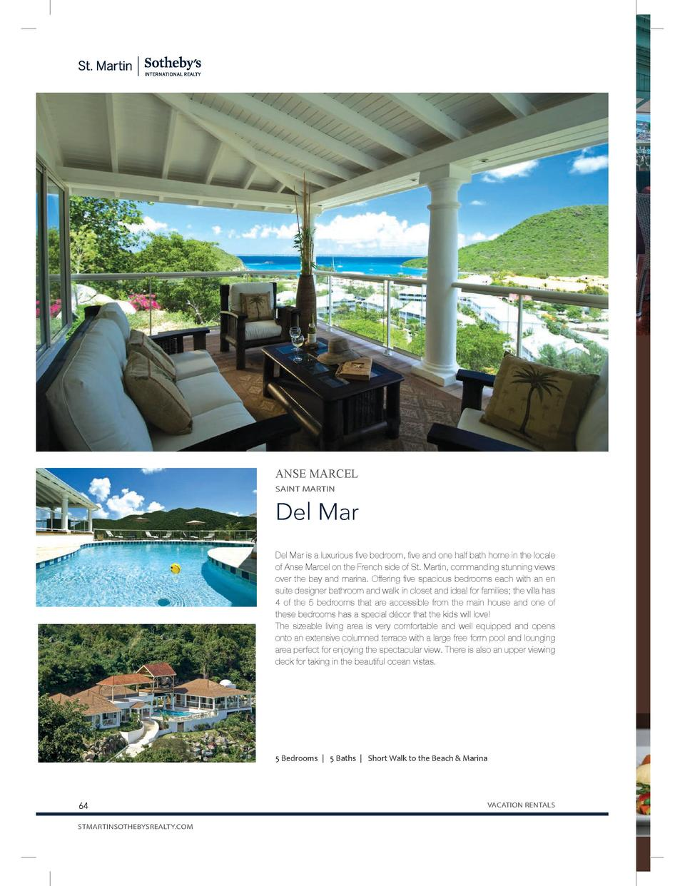 Ocean 82  Ocea could Fine list, at and a best in of the  ANSE MARCEL SAINT MARTIN  Del Mar Del Mar is a luxurious five bed...