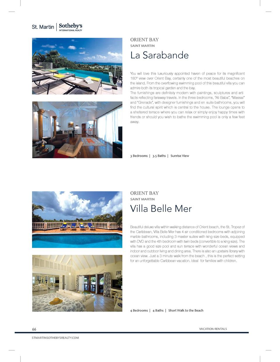 ORIENT BAY SAINT MARTIN  La Sarabande You will love this luxuriously appointed haven of peace for its magnificent 180   vi...