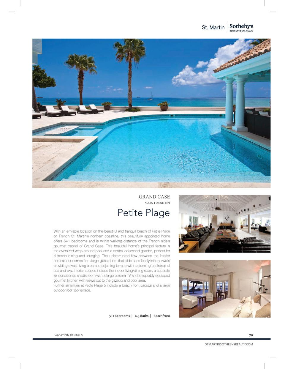 GRAND CASE SAINT MARTIN  Petite Plage With an enviable location on the beautiful and tranquil beach of Petite Plage on Fre...