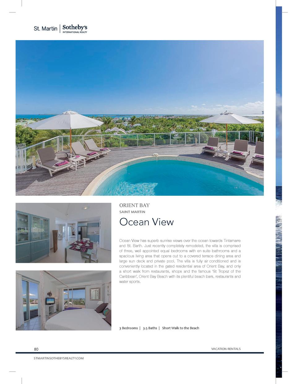 ORIENT BAY SAINT MARTIN  Ocean View Ocean View has superb sunrise views over the ocean towards Tintamarre and St. Barth. J...