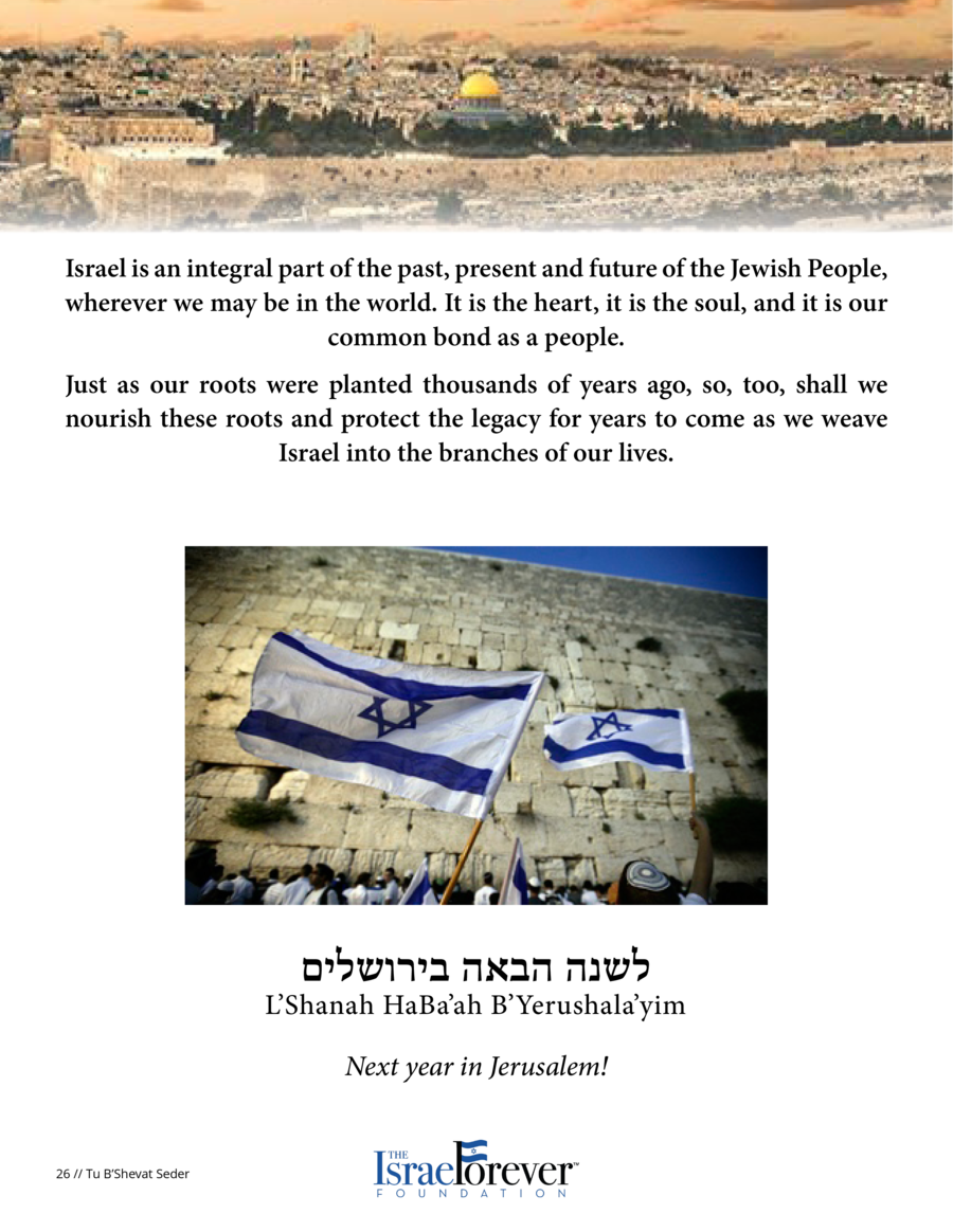 Discussion Activity How does Tu B   Shevat help you understand the value of Israel as a part of our Jewish Identity  What ...