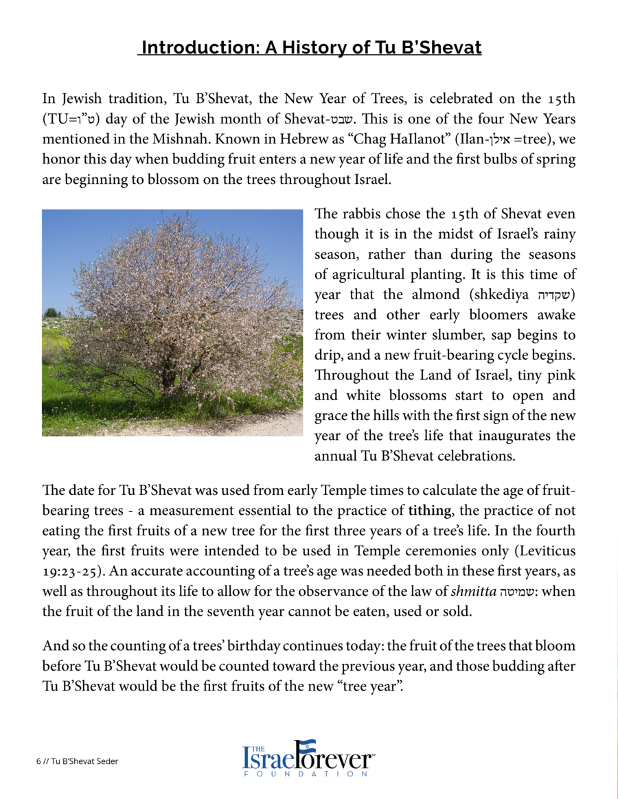 Introduction  A History of Tu B   Shevat  Both of these superbly illustrate the ecological integrity of Judaism both in an...