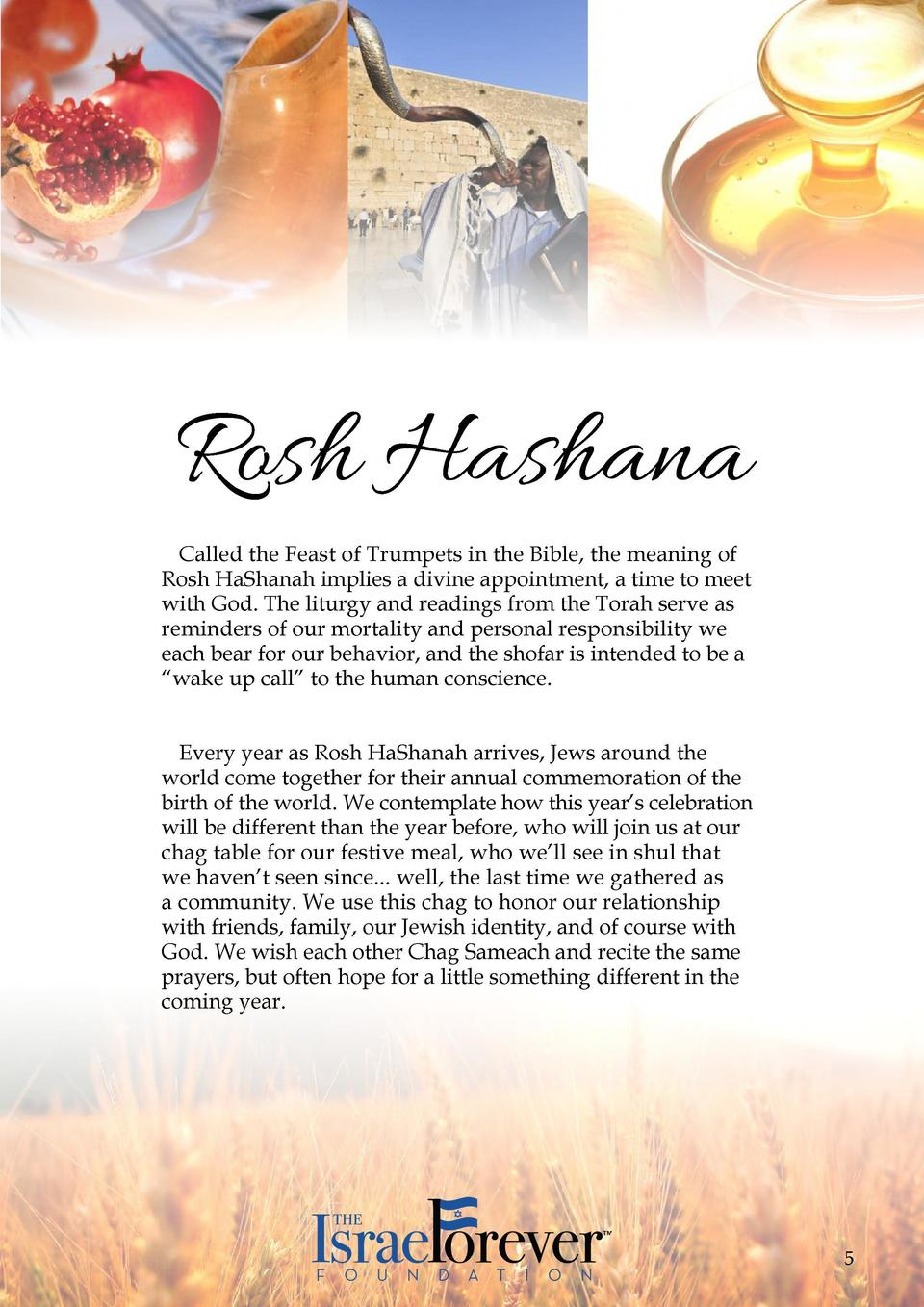 Table of Contents Rosh HaShanah  Recipes for a Sweet New Year................................................................
