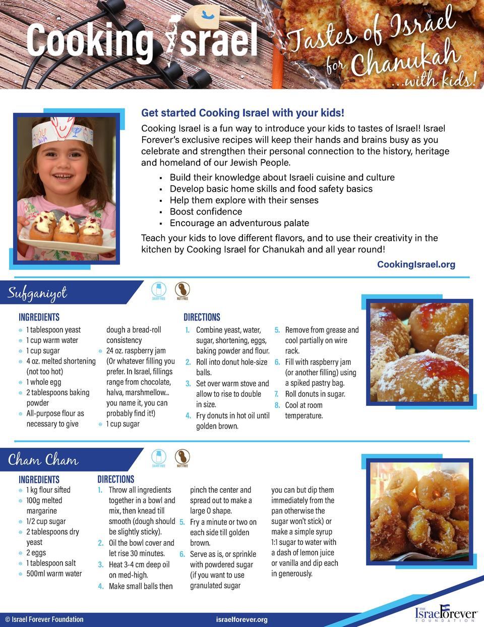 l e a r s I f o s e t s a T for Chanukah  ...with kids   Get started Cooking Israel with your kids  Cooking Israel is a fu...