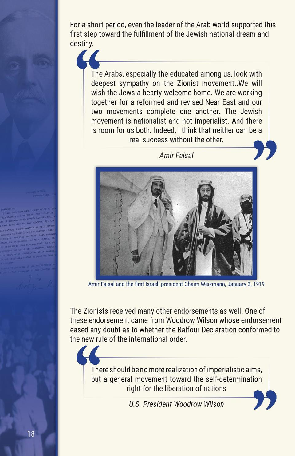 For a short period, even the leader of the Arab world supported this    rst step toward the ful   llment of the Jewish nat...