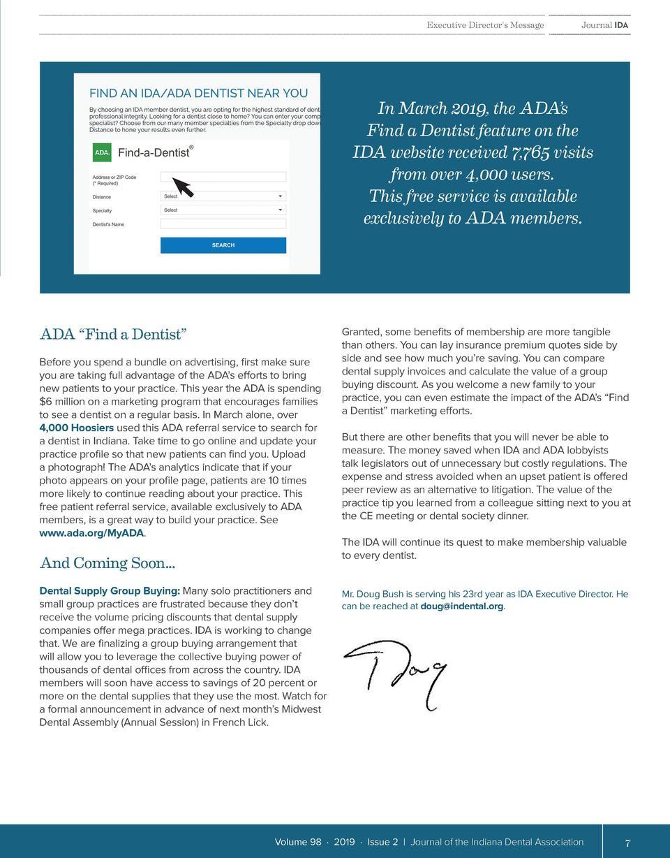 Indiana Dental Association   Journal IDA-Digital Version