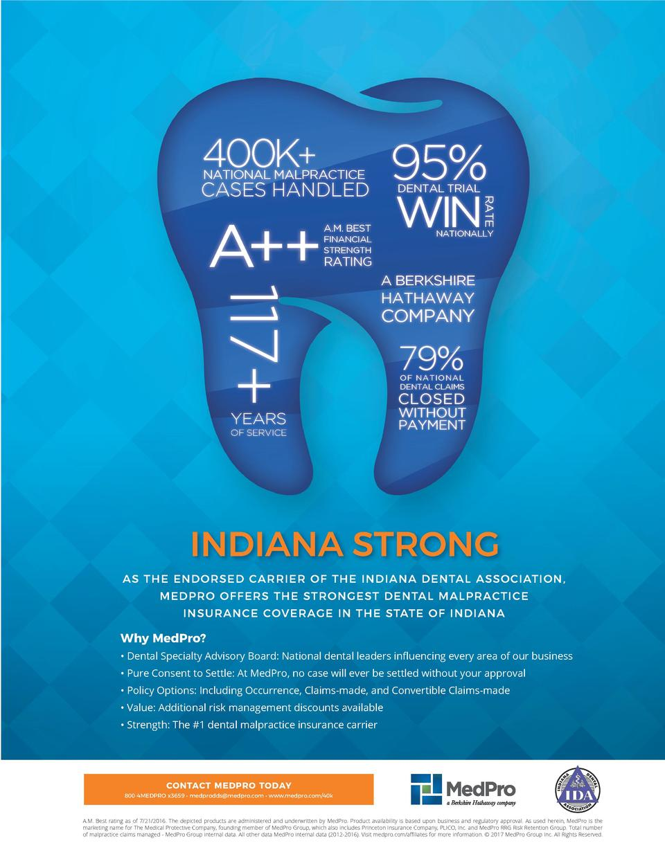 400K   95   NATIONAL MALPRACTICE  CASES HANDLED  WIN  A.M. BEST  RATE  A    DENTAL TRIAL  NATIONALLY  FINANCIAL STRENGTH  ...