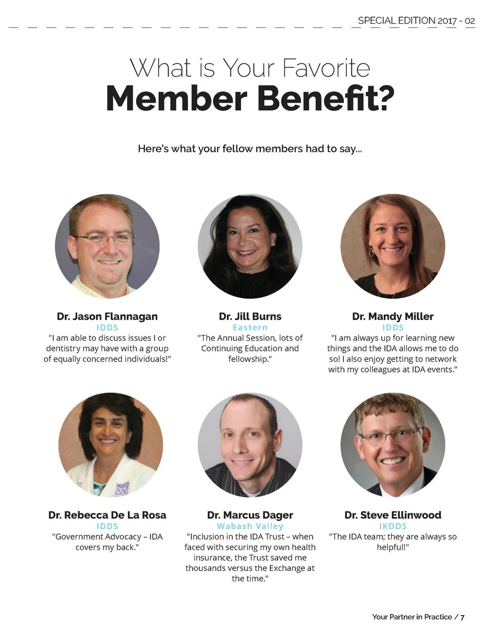 SPECIAL EDITION 2017 - 02  What is Your Favorite  Member Benefit  Here s what your fellow members had to say...  Dr. Jason...