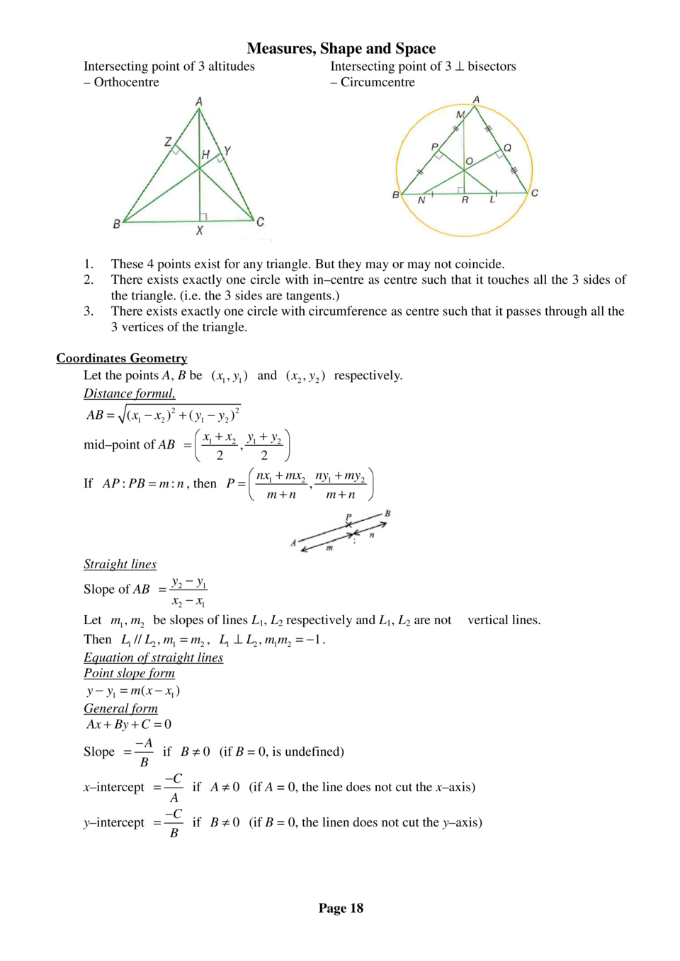 Dse maths simplebooklet measures shape and space intersecting point of 3 altitudes orthocentre 1 2 3 falaconquin