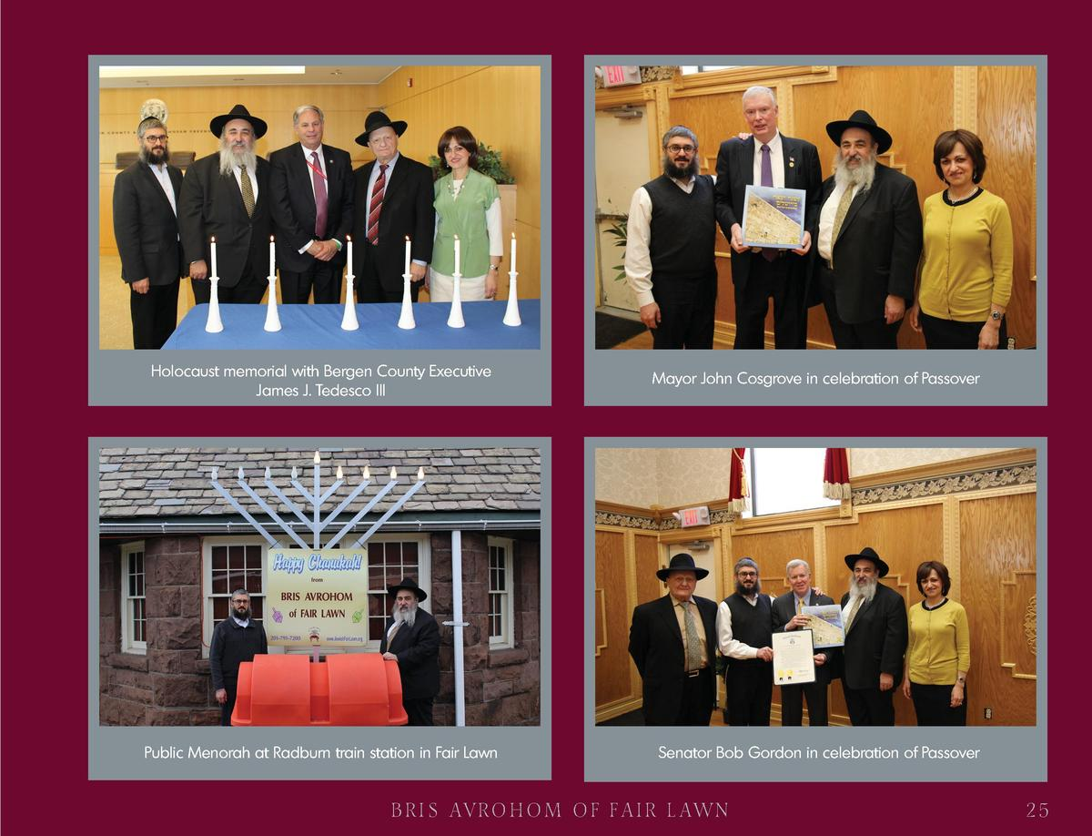 Holocaust memorial with Bergen County Executive James J. Tedesco III  Mayor John Cosgrove in celebration of Passover  Publ...