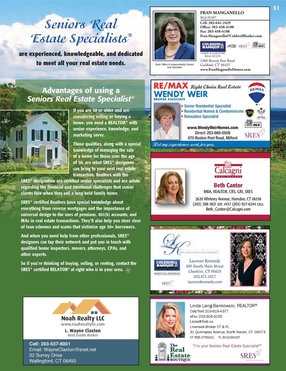 FRAN MANGANELLO REALTOR    Seniors Real Estate Specialists   are experienced, knowledgeable, and dedicated to meet all you...