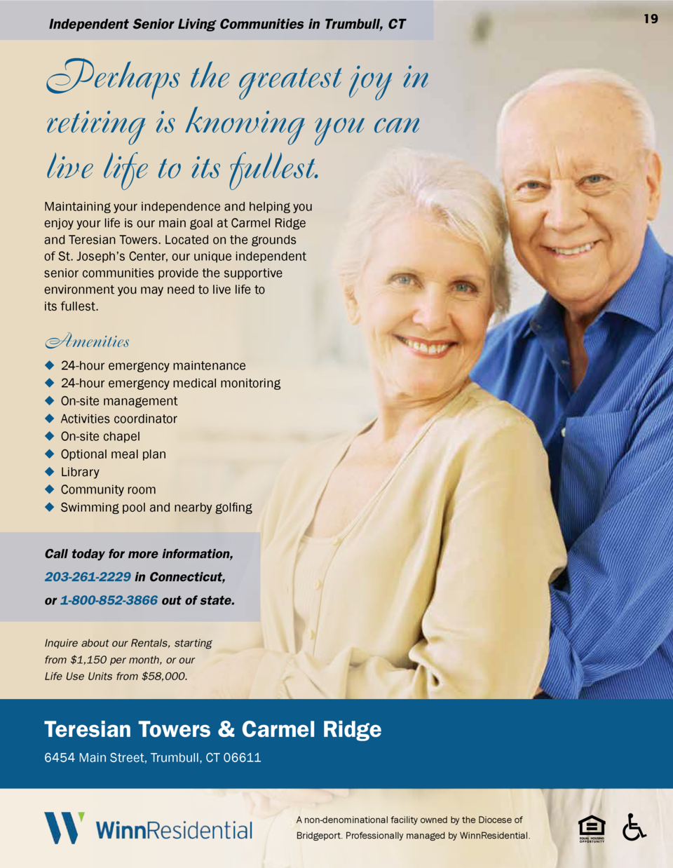 Independent Senior Living Communities in Trumbull, CT  Perhaps the greatest joy in retiring is knowing you can live life t...