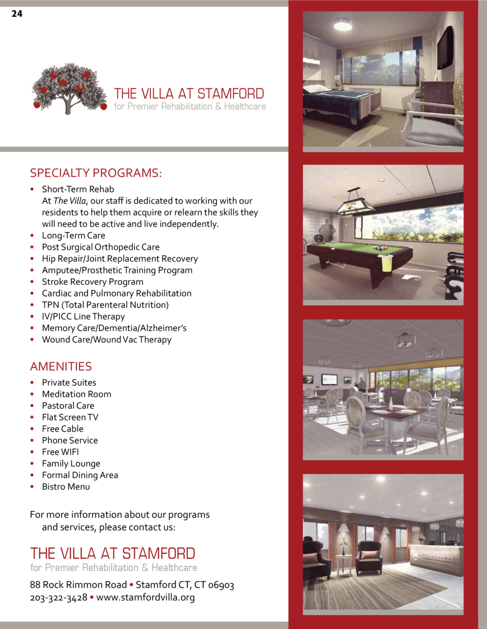 LIFE QUALITY MEMORY CARE 24  IALIZED DEMENTIA  SERVICES  THE VILLA AT STAMFORD for Premier Rehabilitation   Healthcare HEI...