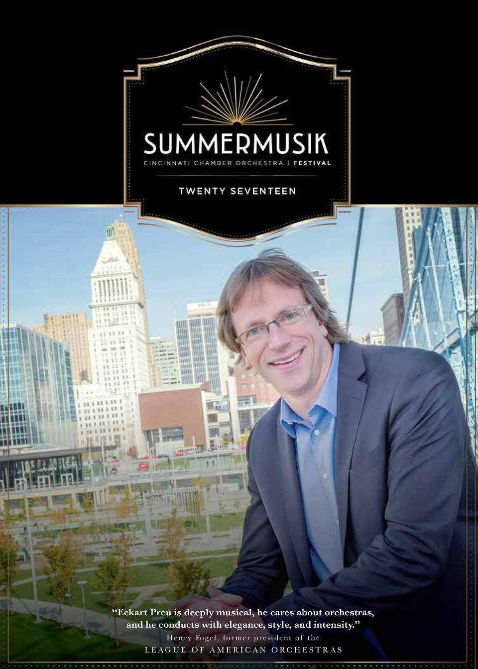Eckart Preu is deeply musical, he cares about orchestras, and he conducts with elegance, style, and intensity.    H e n...