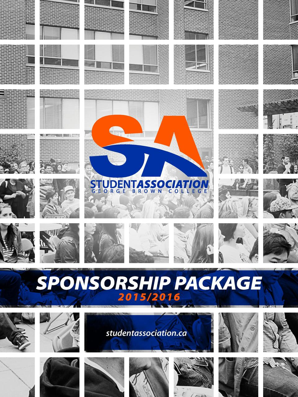 SPONSORSHIP PACKAGE 2015 2016  studentassociation.ca  1