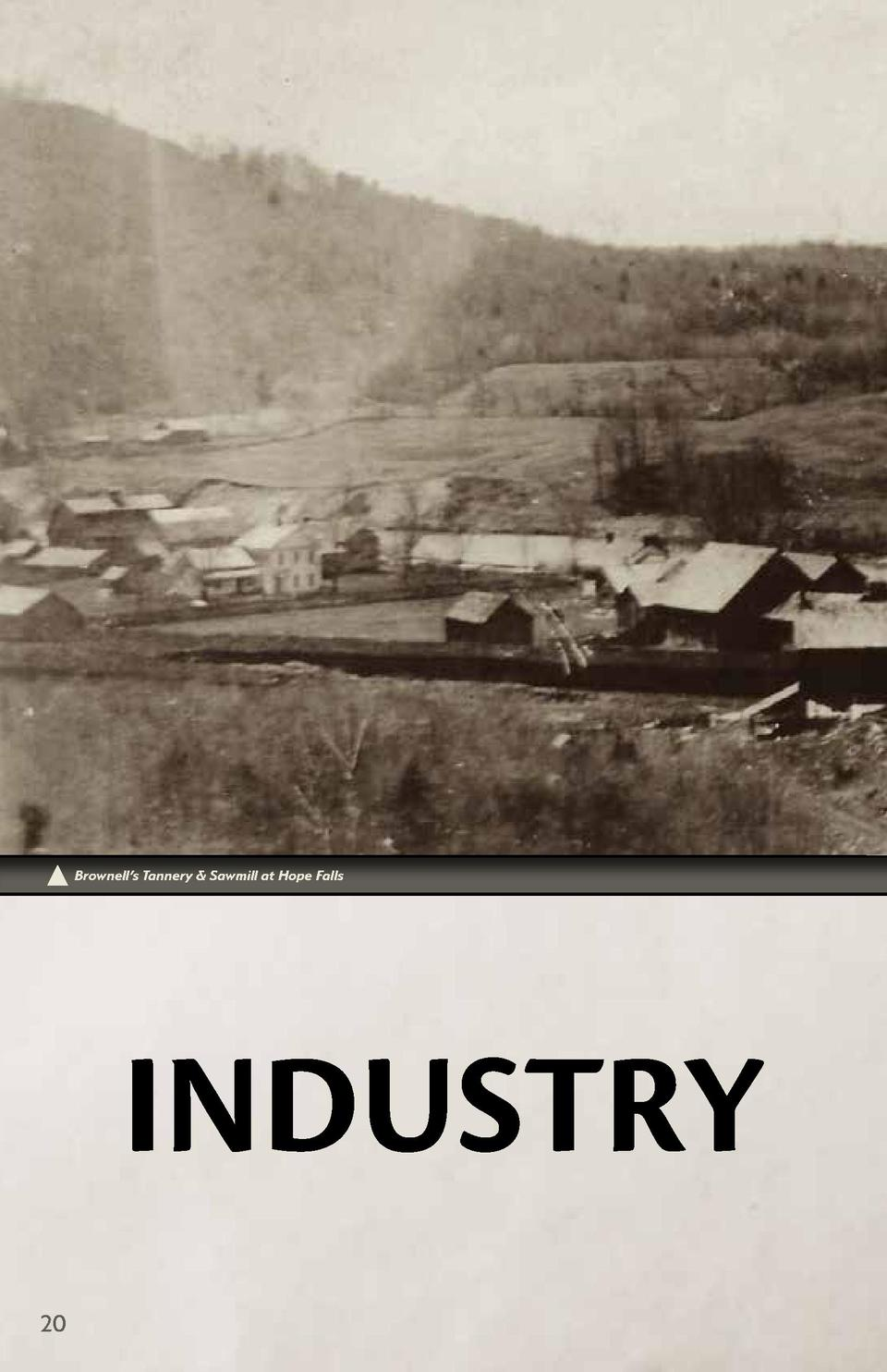 Brownell   s Tannery   Sawmill at Hope Falls  INDUSTRY 20