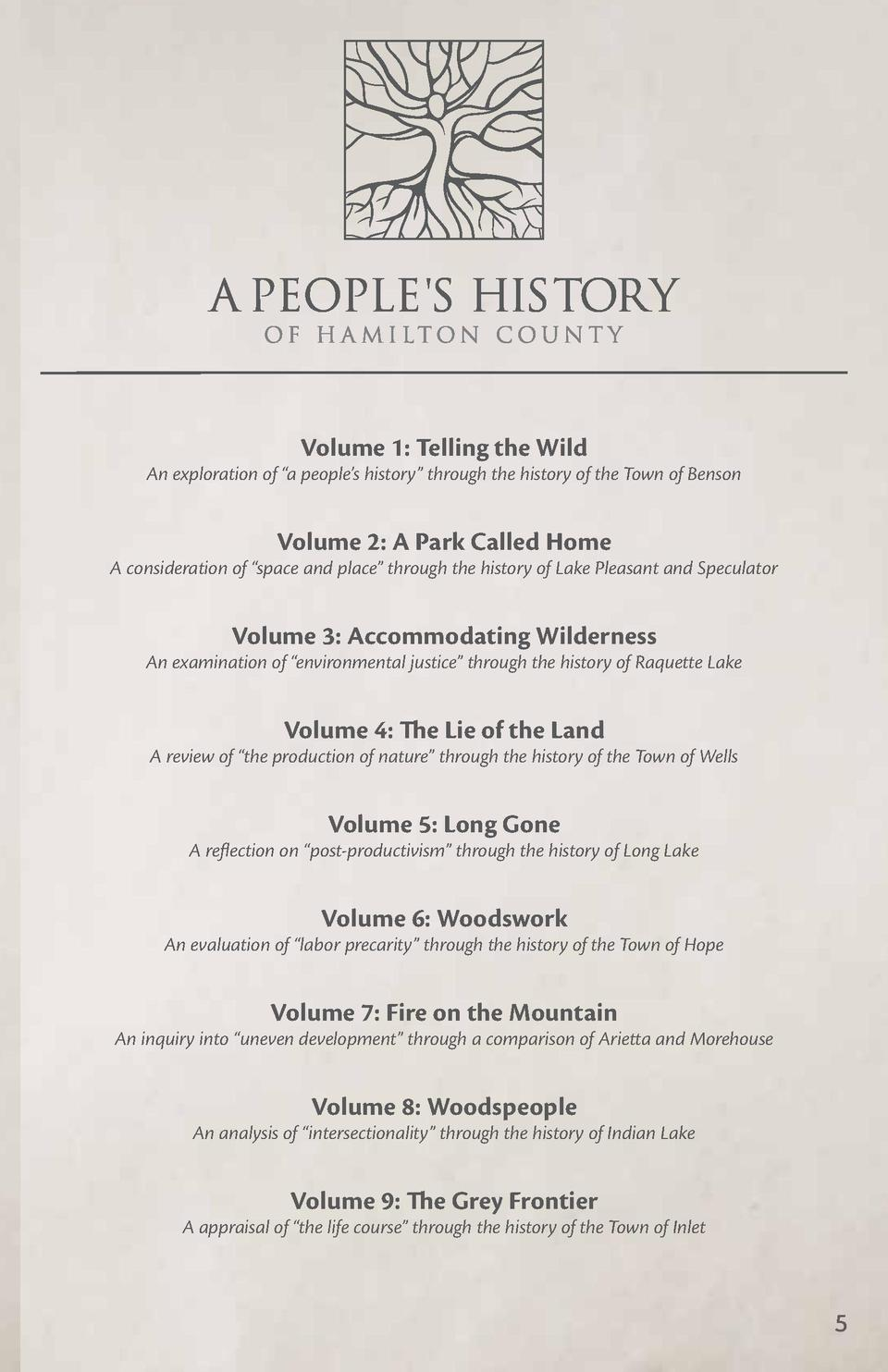 Volume 1  Telling the Wild  An exploration of    a people   s history    through the history of the Town of Benson  Volume...