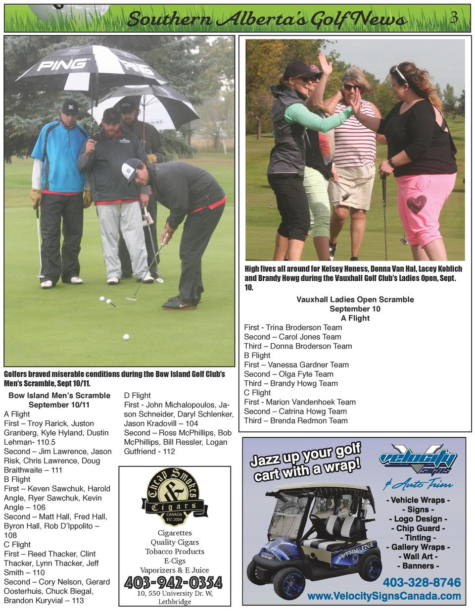 O  Southern Alberta   s Golf News  3  High fives all around for Kelsey Honess, Donna Van Hal, Lacey Koblich and Brandy How...