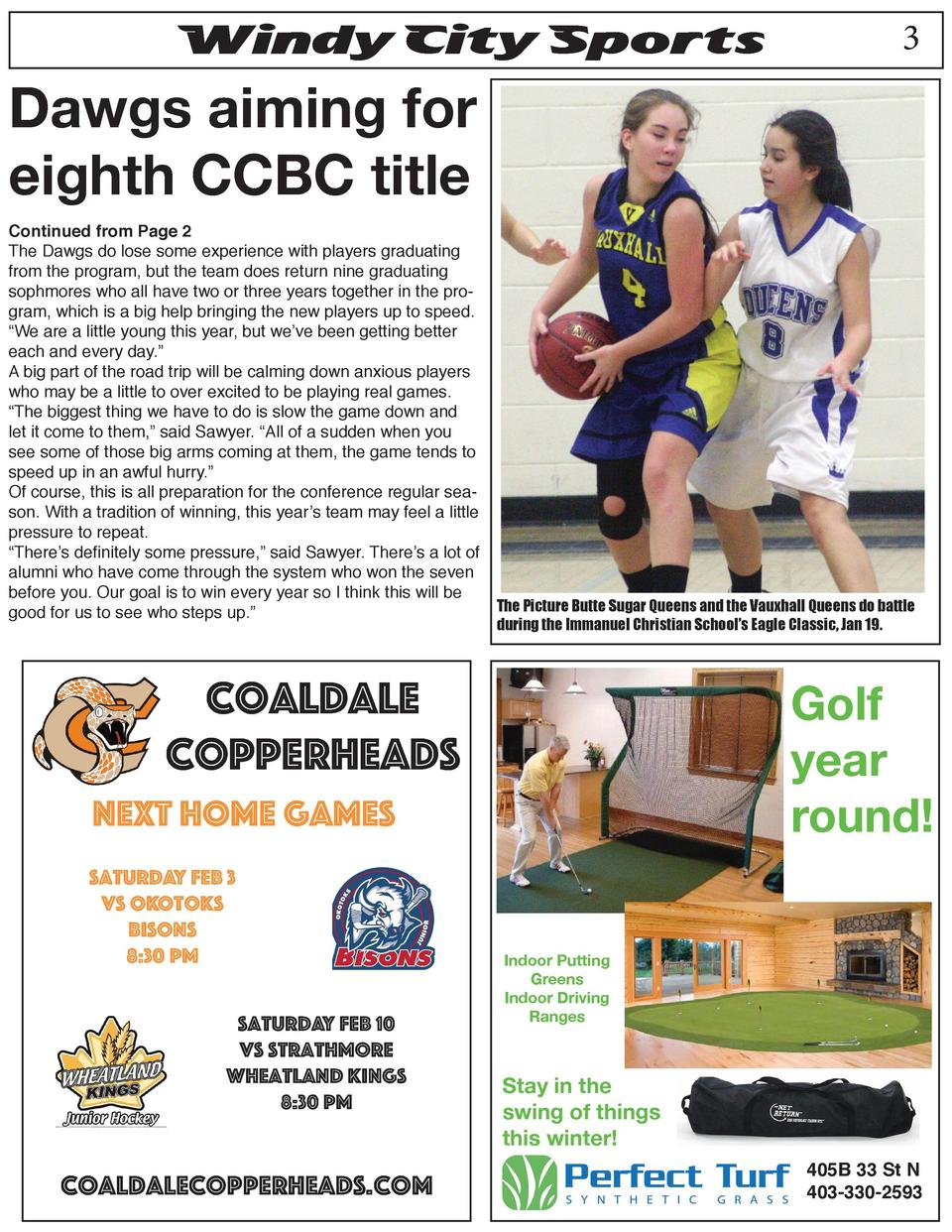 Windy City Sports  3  Dawgs aiming for eighth CCBC title  Continued from Page 2 The Dawgs do lose some experience with pla...