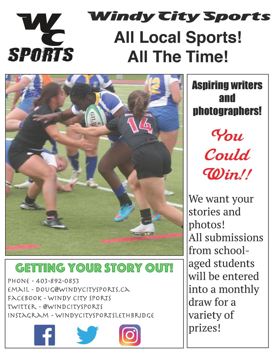 Windy City Sports  All Local Sports  All The Time  Aspiring writers and photographers   You Could Win    Getting your stor...