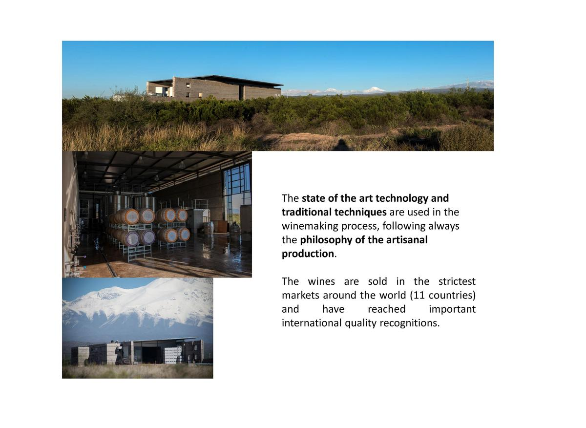 The state of the art technology and traditional techniques are used in the winemaking process, following always the philos...