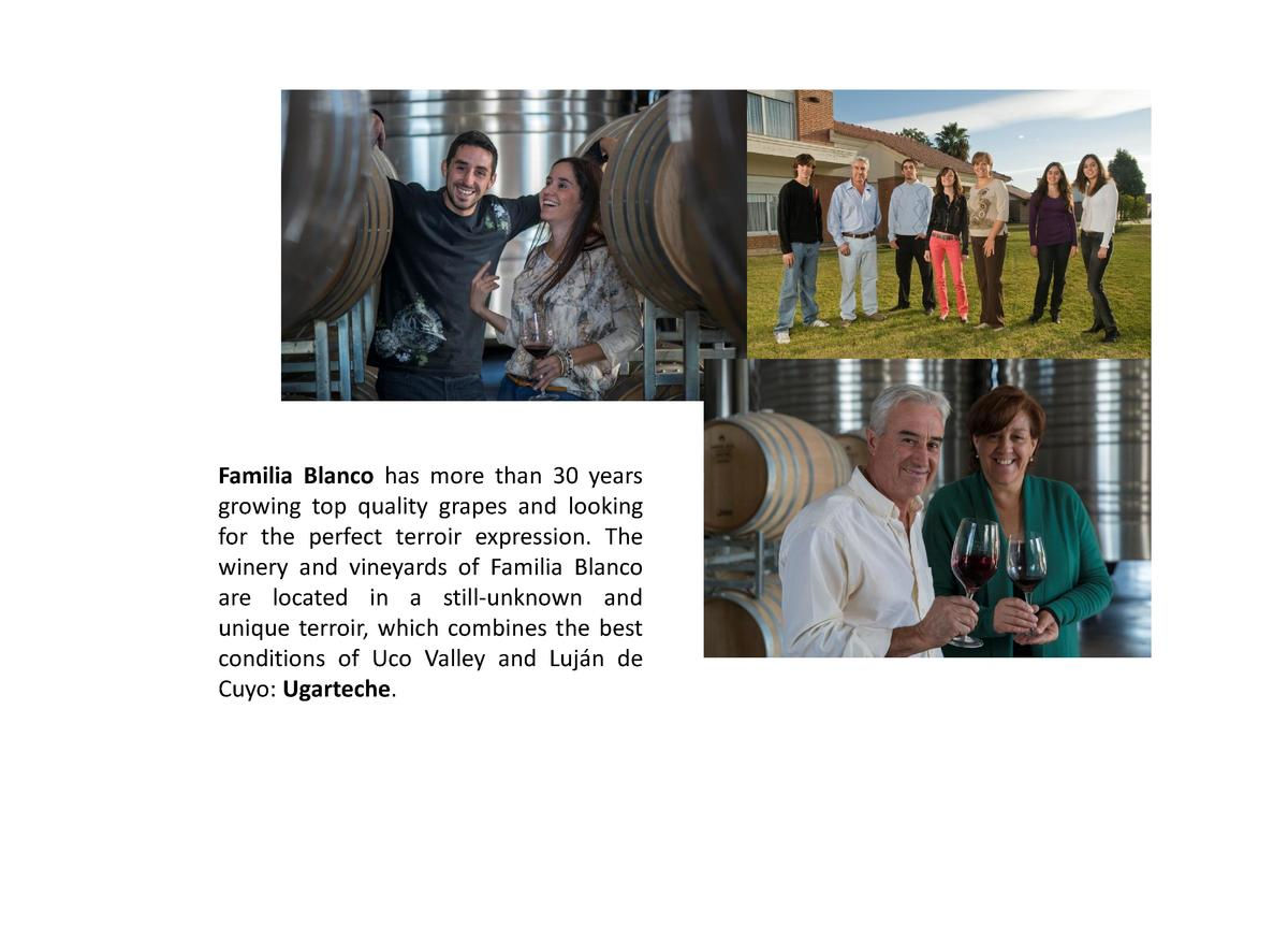 Familia Blanco has more than 30 years growing top quality grapes and looking for the perfect terroir expression. The winer...