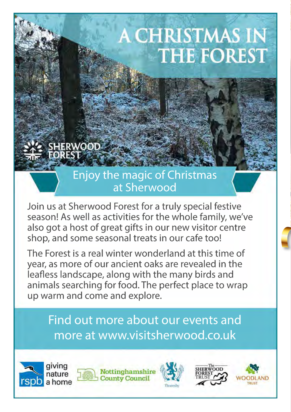 58  Enjoy the magic of Christmas at Sherwood Join us at Sherwood Forest for a truly special festive season  As well as act...