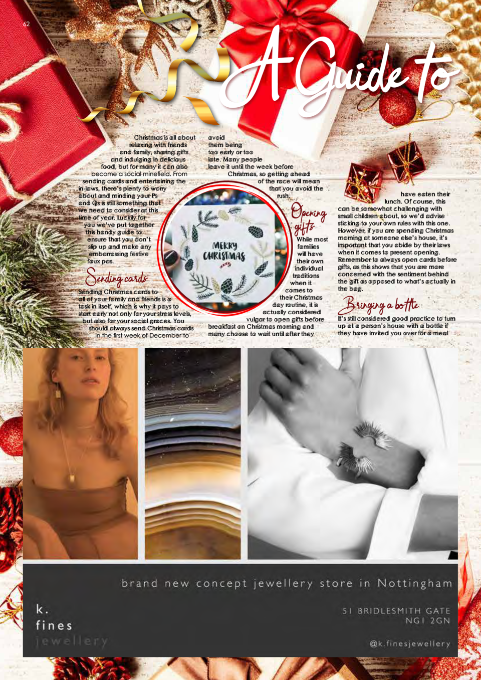 INSERT HEADER COPY  62  Christmas is all about relaxing with friends and family, sharing gifts and indulging in delicious ...