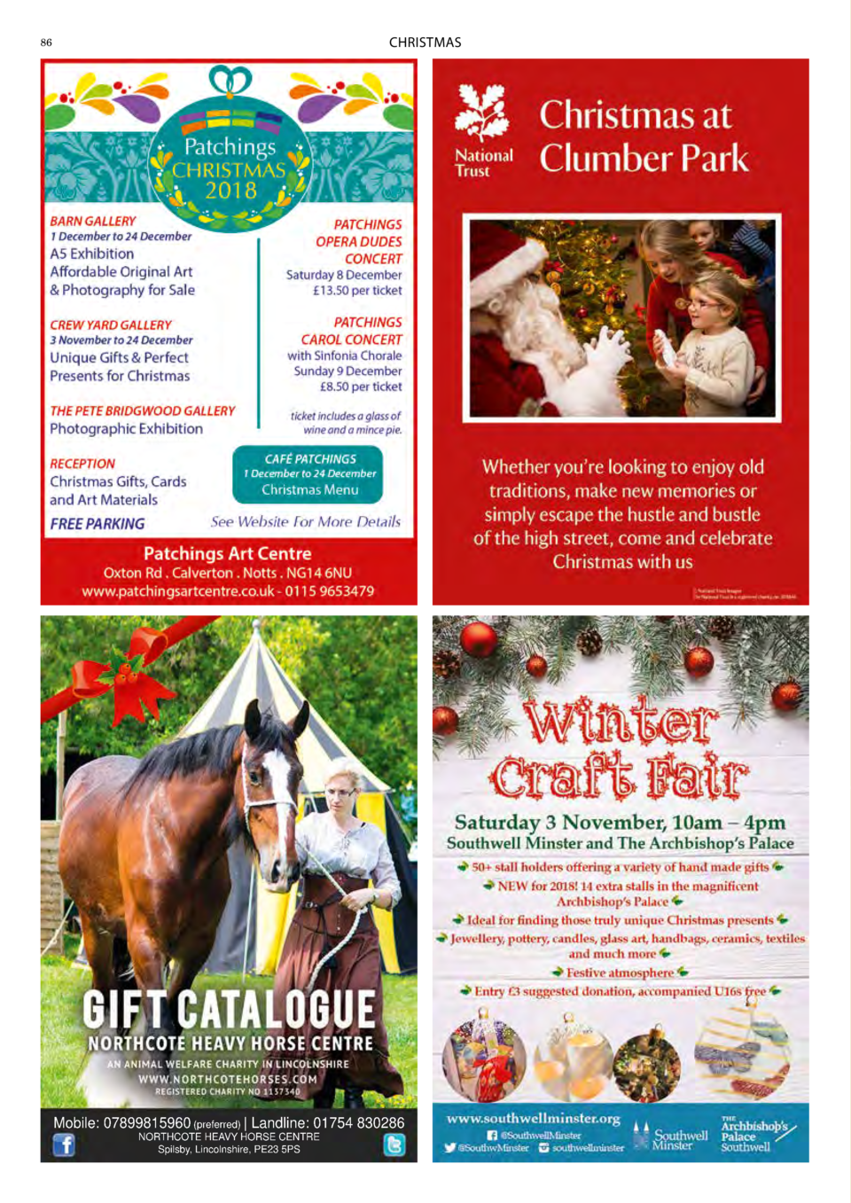 CHRISTMAS  86  Mobile  07899815960  preferred    Landline  01754 830286 NORTHCOTE HEAVY HORSE CENTRE Spilsby, Lincolnshire...