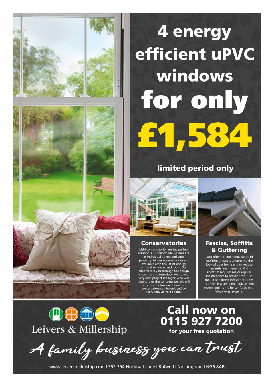 120  INSERT HEADER COPY  4 energy efficient uPVC windows  for only    1,584 limited period only  Conservatories L M conser...